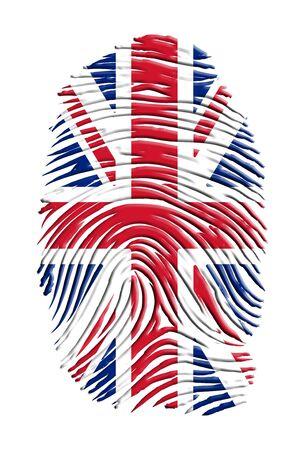 United Kingdom Fingerprint Foto de archivo