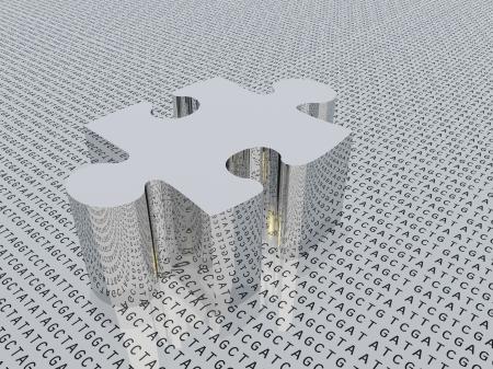 Genetische puzzel Stockfoto