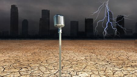 Microphone in Dystopic world Stock Photo - 14231534