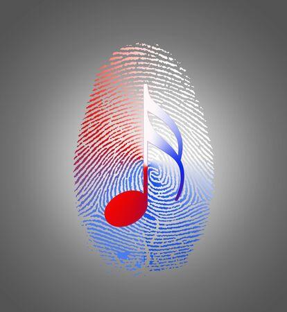 アメリカ音楽の指紋 写真素材