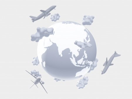 airways: Aircraft above earth