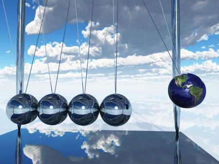 Newtons Cradle Earth photo