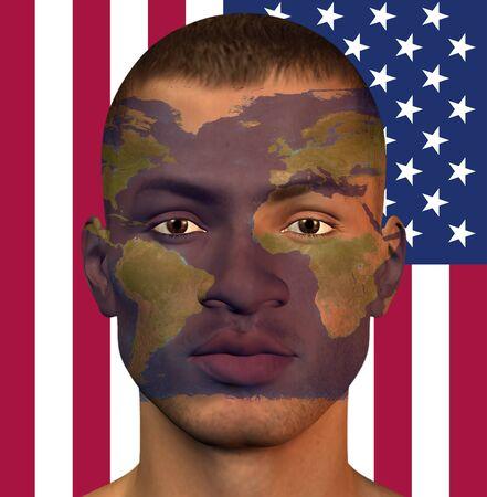 World Man USA Stock Photo - 14299794