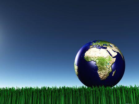 mideast: Africa mideast on grass Stock Photo