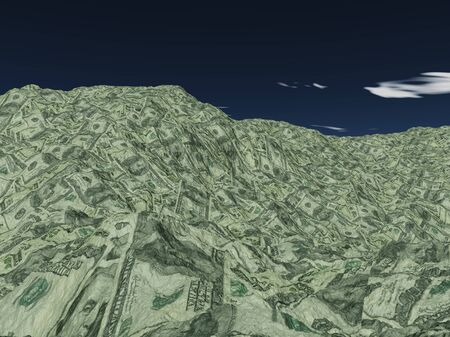 Money Mountian of US Currency