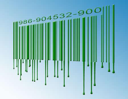 Dripping barcode Stock Photo
