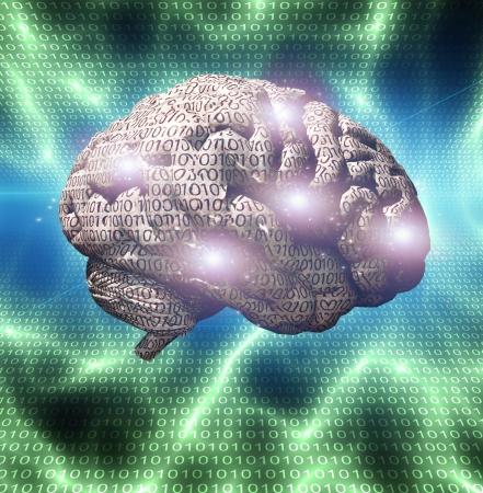Binary brain Imagens - 14480970