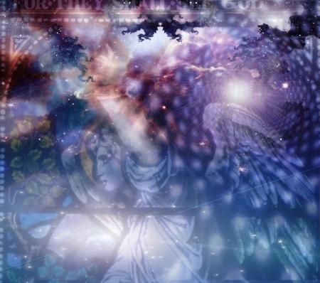 espiritu santo: Ángel y composición heaveanly