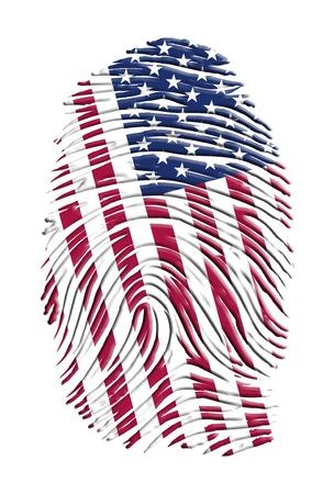USA FINGERPRINT Stockfoto