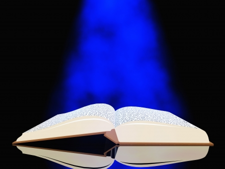 source: Book with light Stock Photo