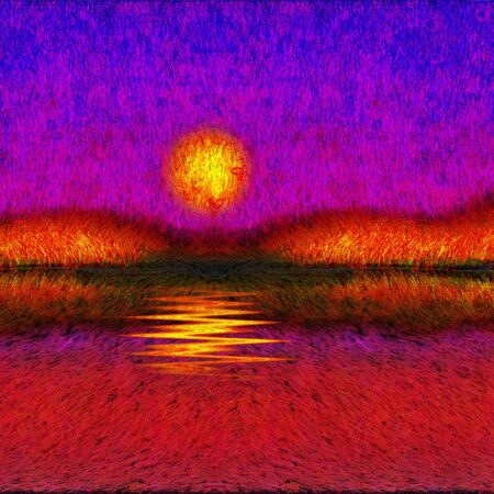 Painted Abstyraction SUnset or Sunrise photo