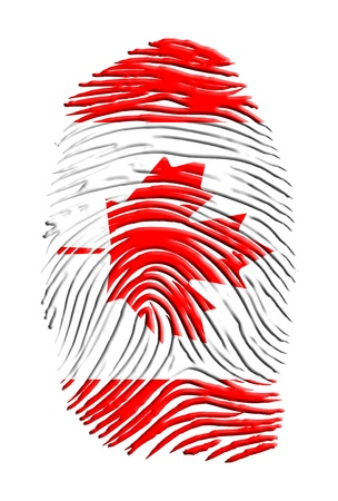 Canadian identity finger print Stock Photo - 14579670