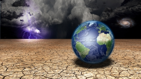 extreme science: Earth in desert