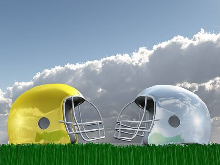 Football Helmet Composition photo