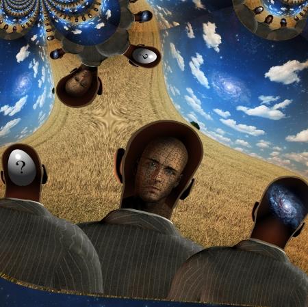 human mind: Una mente humana Composici�n Abstracta