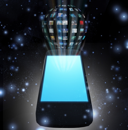 Smart Phone Video Sphere or Image Sphere Stock Photo - 14579675