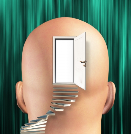open mind: Stairs lead up to Door to  mind