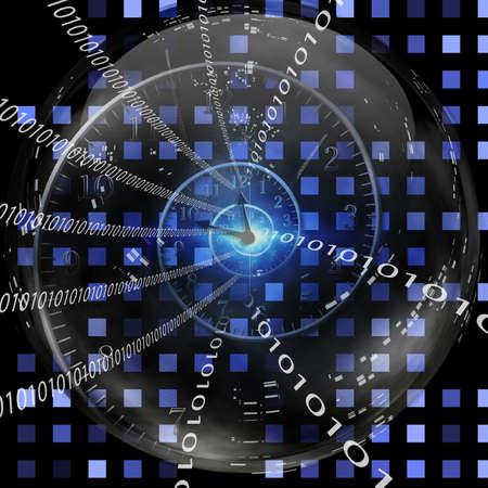 photography icon: Binary Clock Stock Photo