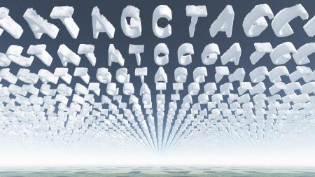 Genetic Latters Clouds