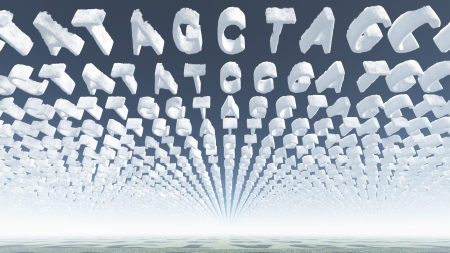 Genetic Latters Clouds Stock Photo - 14841306