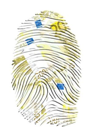 finger proof: Euro Finger Print Stock Photo