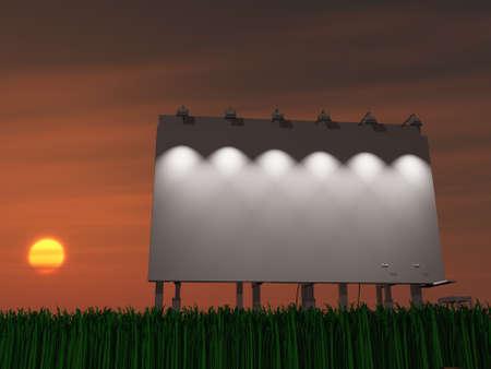 Sunset or sun rise billboard photo