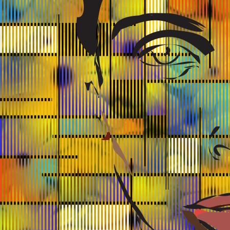 Abstract met gezicht Stockfoto - 14934272