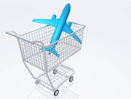 Aircraft in shopping trolly Stock Photo - 15488683