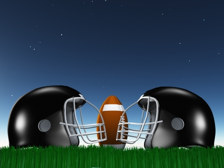Football Helmet Composition Stock Photo - 15500015