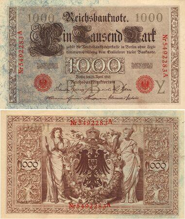 ドイツ 100 マーク メモ 1910