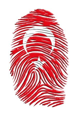 터키어 플래그 지문 스톡 콘텐츠