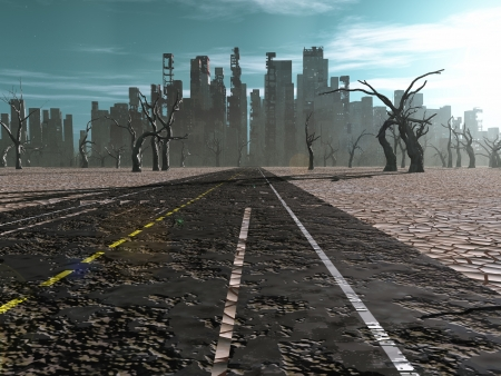 Road to dead city photo