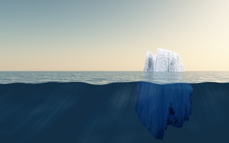 underwater ocean: Iceberg