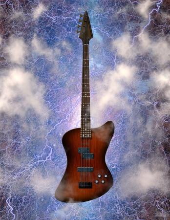 Electric Bass Guitar Zdjęcie Seryjne