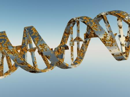 Beschadigde DNA-strengen Stockfoto