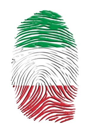 italian flag: Identit� italiana