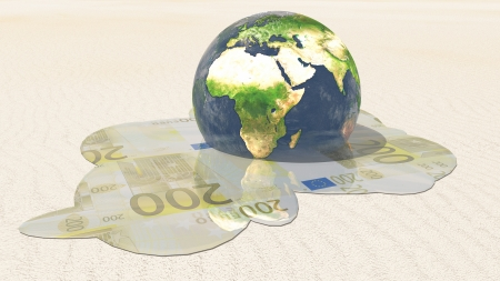 World euro melt  Elements in this image furnished by NASA Stock Photo - 15536248