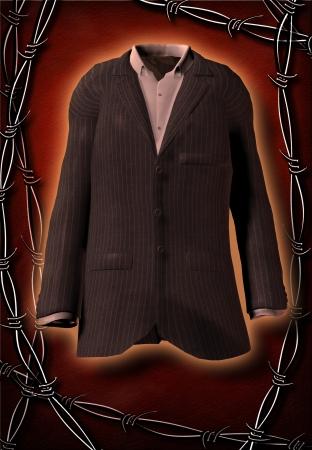 glorious: Glorious suit imprisoned Stock Photo