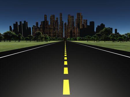 road scraper: Road to city night