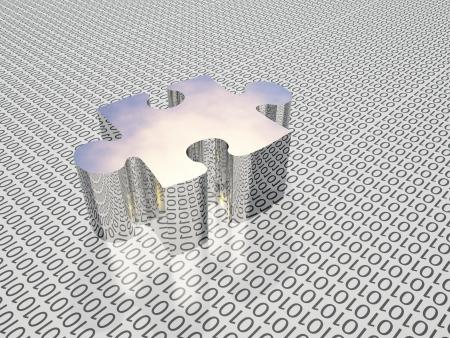 Binary puzzle Stock Photo - 15793854