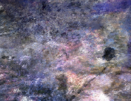 abstracted: Impressionist inspired landscape with text and more as texture