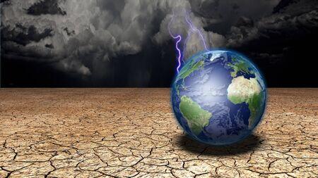 barren land: Earth in desert