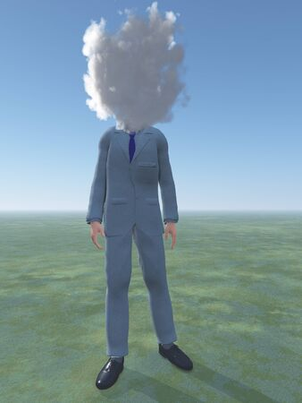 Man with cloud for head Stock Photo - 16065821