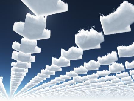 Arrow clouds photo