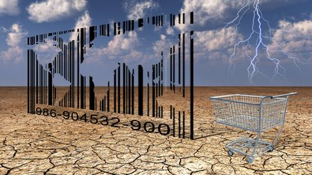 droughts: World Bar Cide Stock Photo