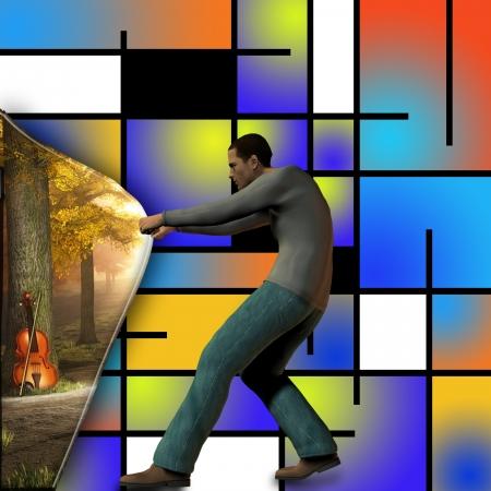 Music behind modern art inspired
