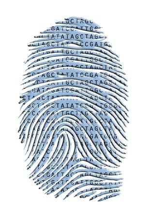 cloning: Genetic Latter Finger Print Isolated on White