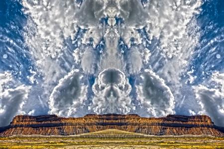 geological formation: Skeletal Clouds Surreal Landscape