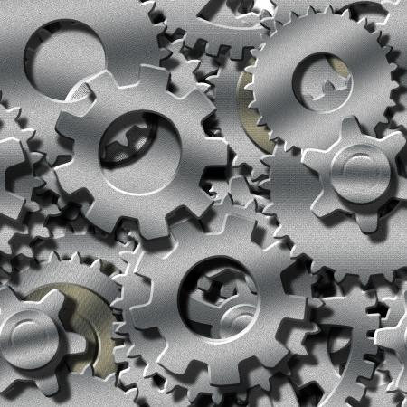 rueda dentada: Seamlessly repetibles Metal Gears 3 dimensiones Foto de archivo