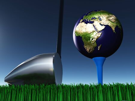 cgi: Africa Golf Stock Photo